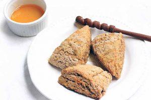 Pumpkin Spice Scones for Brunch or Afternoon Tea