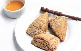 Pumpkin Spice Scones for Brunch or Afternoon Tea