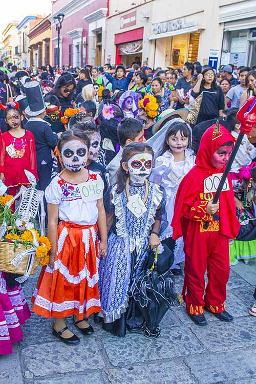 It's one of Mexico's biggest fall celebrations: Dia de los Muertos! A time for candy and commemorating those long past (much like Halloween), you can celebrate it in your own way. Read about it here: https://foodal.com/holidays/halloween/celebrate-dia-de-los-muertos/