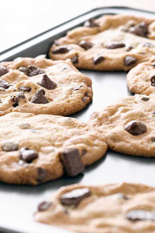 Do you love chocolate chip cookies - but hate when they come out of the oven flat? Learn not only why this happens, but how to prevent it too with these quick tips from the experts at Foodal: https://foodal.com/knowledge/how-to/say-goodbye-to-flat-chocolate-chip-cookies/