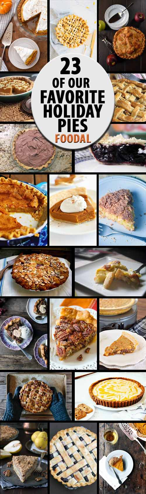 At the holidays, dessert wouldn't be complete without a slice of pie. From apple and pumpkin to custard and banana cream, we share our favorite pies from around the web. Plus recipes to cater to those with special diets, food allergies, and intolerances. Read more and get the recipes now on Foodal.
