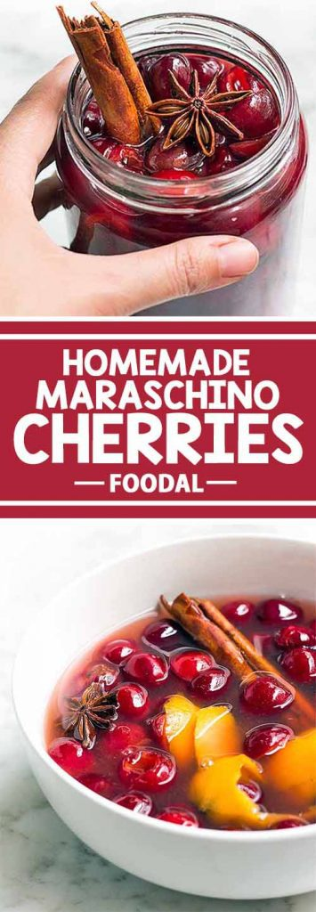 Do you know how easy it is to make your own maraschino cherries? This alcohol-free recipe is not only quick and simple, but these also taste so much better than the store-bought ones. You can be sure that your guests will be impressed! Get the recipe on Foodal now, and make your own maraschino cherries today!