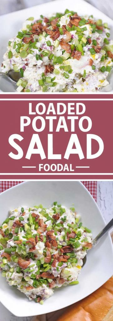 Want a potato salad that sure to wow your friends and family? Look no further than this ultimate rendition. With sour cream, bacon, feta cheese and more!