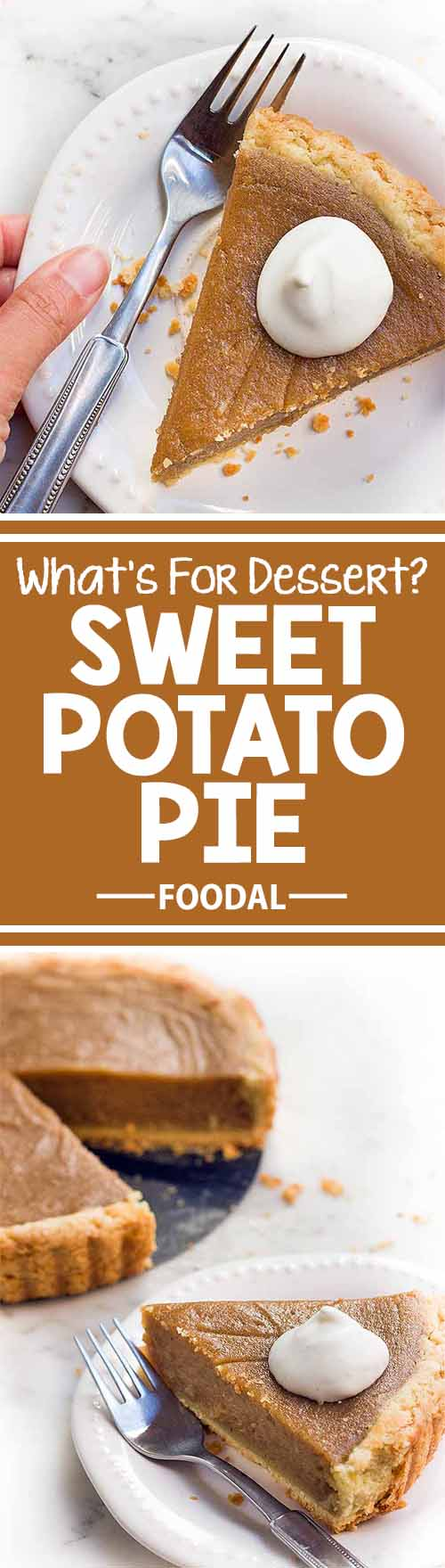 If you love pie and you're a fan of sweet potatoes, then you're definitely going to love this sweet potato pie, a decadent and rich dessert that is perfect for serving your guests this holiday season – or at any time of year! Get the recipe now on Foodal: https://foodal.com/recipes/desserts/sweet-potato-pie/
