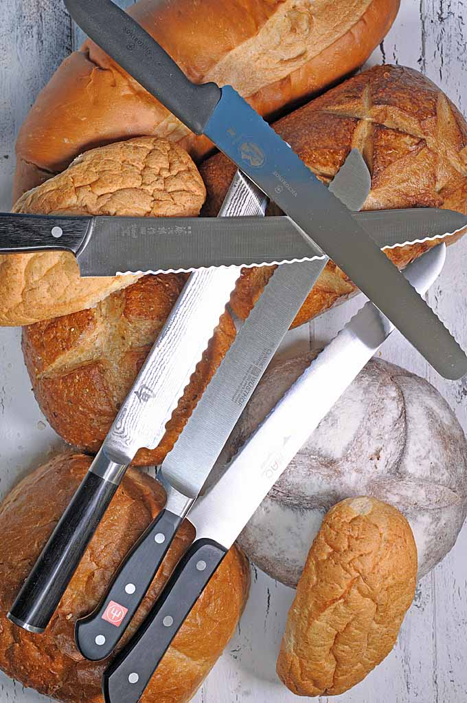 Do your bread slices turn out squished or ragged? Could be time for a serrated bread knife. Check out these toothy blades for bread, tomatoes and much more! https://foodal.com/kitchen/knives-cutting-boards-kitchen-shears/things-that-cut/bread-knives-reviewed/