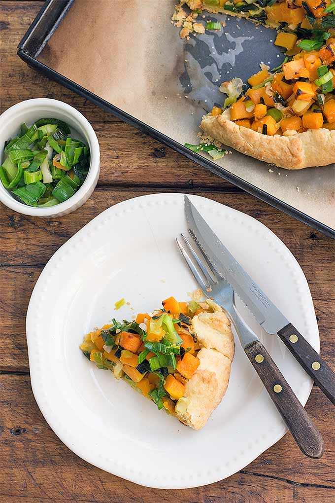 Imagine buttery, flaky pastry dough filled with flavorful butternut squash and leeks... this can be yours! Get our recipe for Butternut Squash and Leek Galette now: https://foodal.com/recipes/comfort-food/butternut-squash-leek-galette/