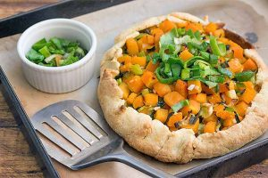 Healthy Butternut Squash and Leek Galette
