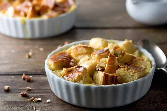 Cake Bread Pudding with Walnuts   Foodal.com