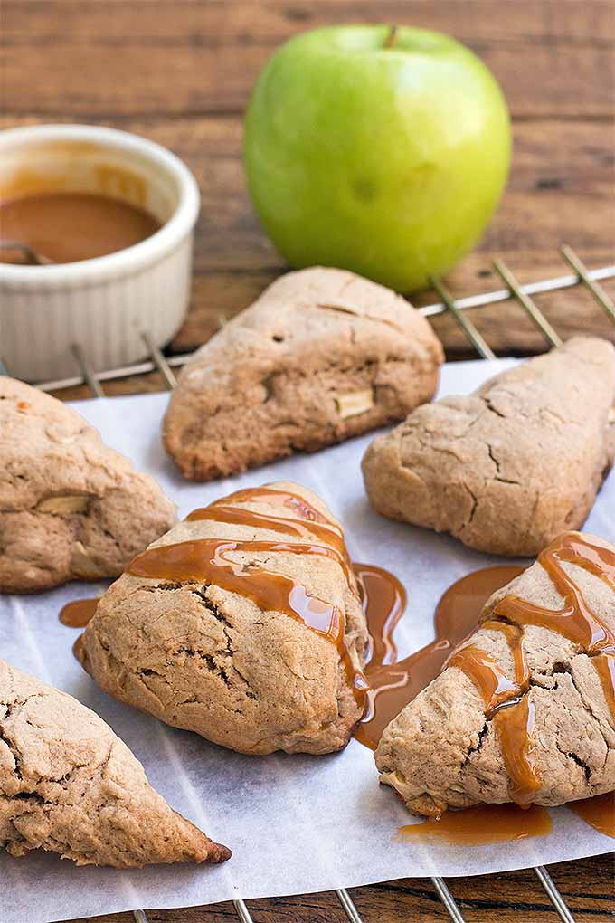 Caramel and apples make a delightful combination- so why not bake up some deliciousness, in scone form? Get the recipe: https://foodal.com/recipes/breakfast/caramel-apple-scones/