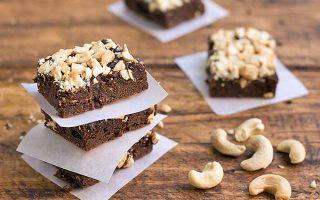 The Best Homemade Gluten-Free Cashew Brownies