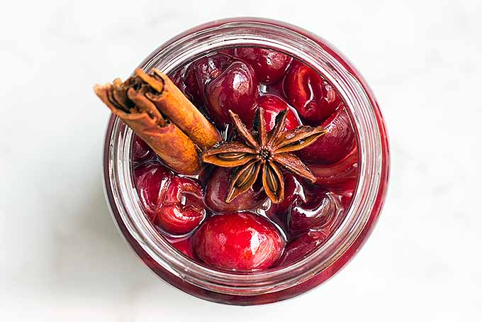 Jar of Maraschino Cherries with Warming Spices | Foodal.com