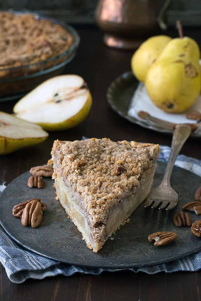 You're going to love this round up of 23 of our favorite holiday pies, like this Pear with Pecan Streusel from The First Year. Read more: https://foodal.com/recipes/desserts/holiday-pies-roundup/