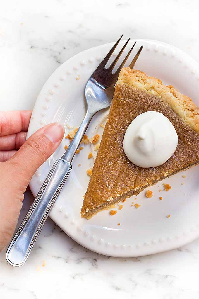 Sweet potato pie makes a wonderful addition to your holiday dessert menu. Get the recipe: https://foodal.com/recipes/desserts/sweet-potato-pie/