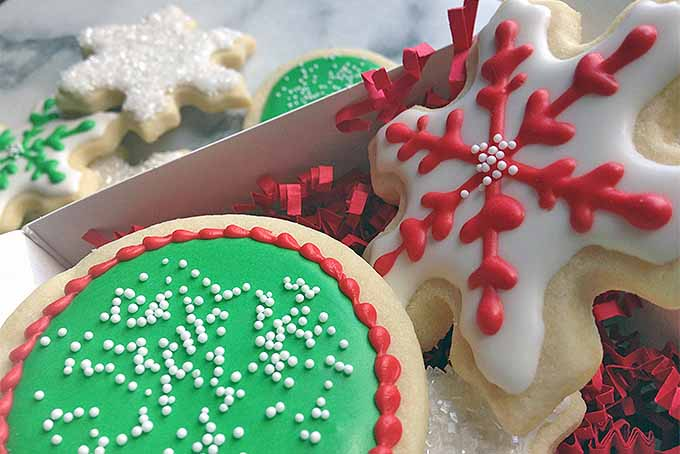 A Box of Holiday Sugar Cookies | Foodal.com
