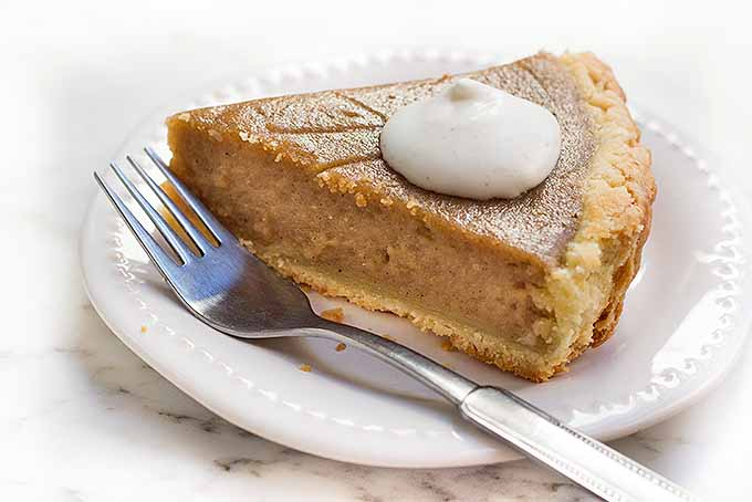 Sweet Potato Pie with Whipped Cream | Foodal.com
