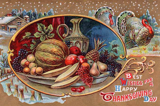 Antique Thanksgiving Postcard | Foodal.com