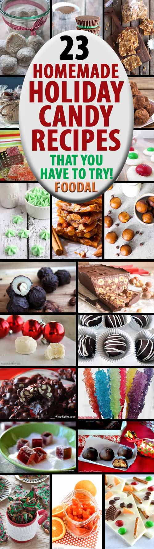 Looking for a nice gift for the neighbors, a fun activity to do with the kids, or something scrumptious to share alongside all the cookies at your office Christmas party? From truffles to toffee and everything in between, we've got your holiday candy making needs covered! Check out 23 of our favorite recipes now on Foodal.