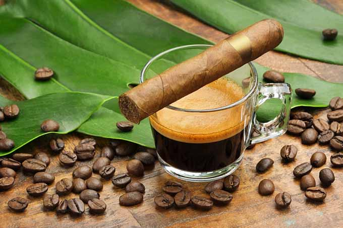 Making a Cafe Cubano Coffee