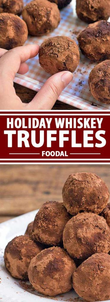 These whiskey truffles are rich and decadent, perfect for those of you who love whiskey. Soft on the inside, with a hint of whiskey flavor and a coating of cocoa powder, these truffles won't last very long on the table. They're bound to be a hit at your dinner party. Get the recipe from Foodal now and make a batch today!