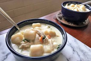 Thick and Creamy Italian Gnocchi Chicken Soup (Olive Garden Copycat)