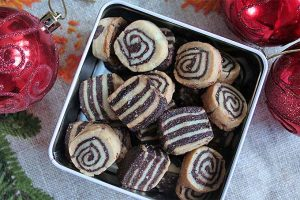 Black and White European Christmas Cookies