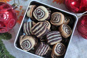 Black and White European Christmas Cookies