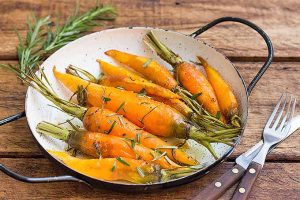 Roasted Rosemary Carrots with Honey Glaze