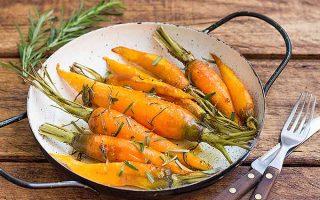 Roasted Rosemary Carrots with Honey Glaze