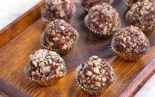 Dark Chocolate Hazelnut Truffles