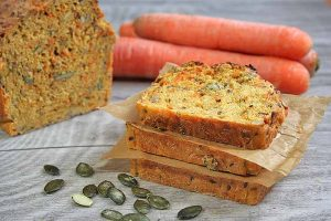 Three Seed Multigrain Carrot Bread for Healthy Snacking