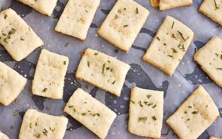 Homemade Parmesan and Rosemary Crackers
