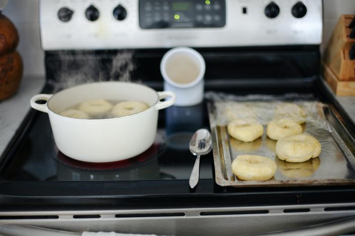 boiling shaped dough