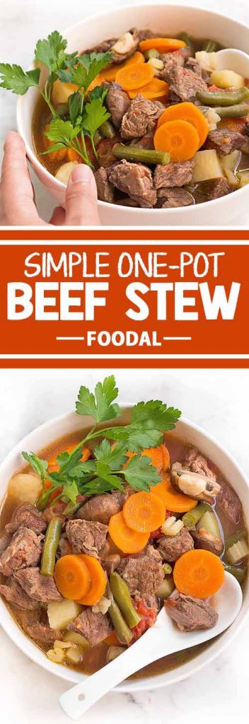After a day of playing in the snow, warm your family up with a hearty one-pot meal. This recipe for Savory Beef Stew, from the experts at Foodal, is flavored with bay leaf and bursting with vegetables including shallots, cremini mushrooms, and plum tomatoes. Keep the pot warm and ready for serving seconds!