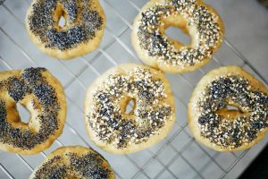 Homemade Einkorn Bagels with Your Favorite Toppings