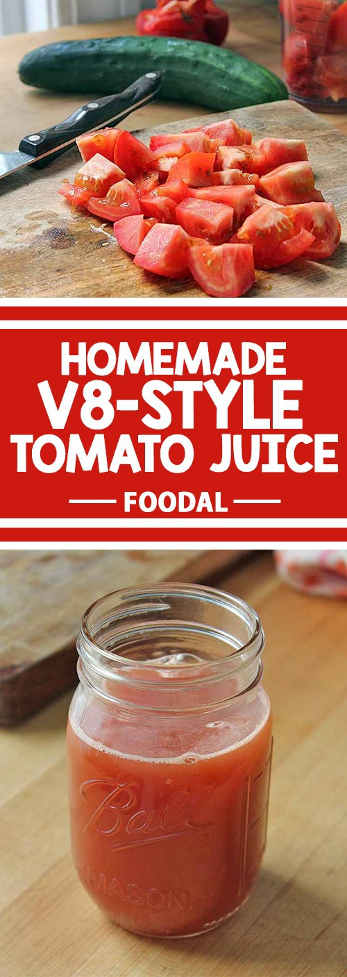 Are you looking for a zesty beverage to whip up in your juicer? How about making Homemade V8-Style Tomato Juice? Packed full of tomatoes and sweet bell peppers, the added zing comes from savory herbs. Enjoy a refreshing glass in the morning, or as an appetizer before dinner. Get the recipe now.