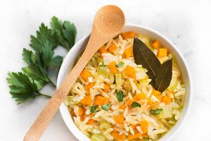 Warm Up with a Bowl of Lemon Orzo Soup (Vegan)