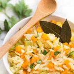 A top-rated soup made with lemon juice, orzo pasta, and veggies | Foodal.com