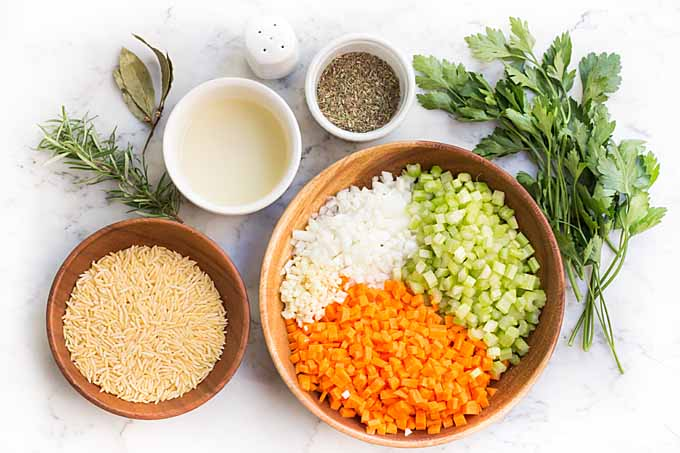 Lemon Orzo Soup Recipe - Step 1 –Prepare Your Mise en Place