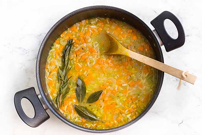 Lemon Orzo Soup Recipe - Step 5 – Add the Lemon Juice and Season