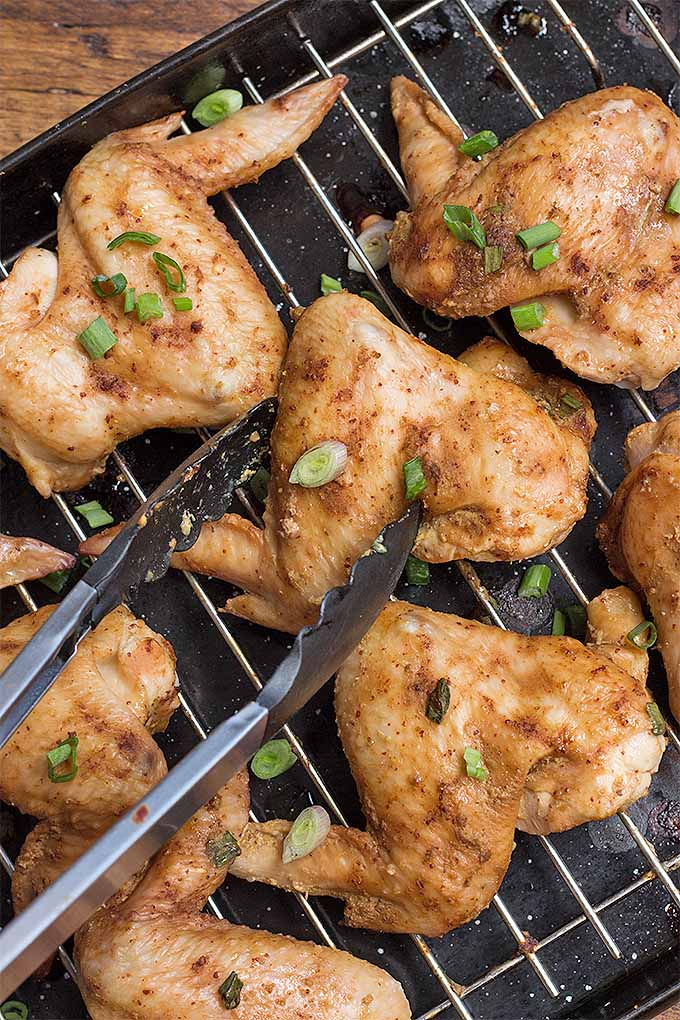 This recipe for Simple Spicy Wings is one of our favorites! Try it at home: http://foodal.com/recipes/poultry/simple-spicy-wings/