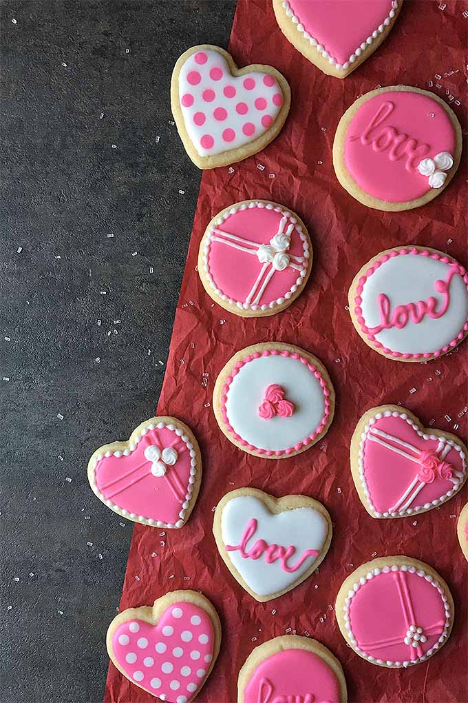Send the kids to school with something special this Valentine's Day, pack up a box for your sweetheart, or keep them all for yourself - we've got all the tips you'll need to make the cutest iced sugar cookies at home. Learn how: https://foodal.com/recipes/desserts/cookie-decorating-tips-valentines-day/