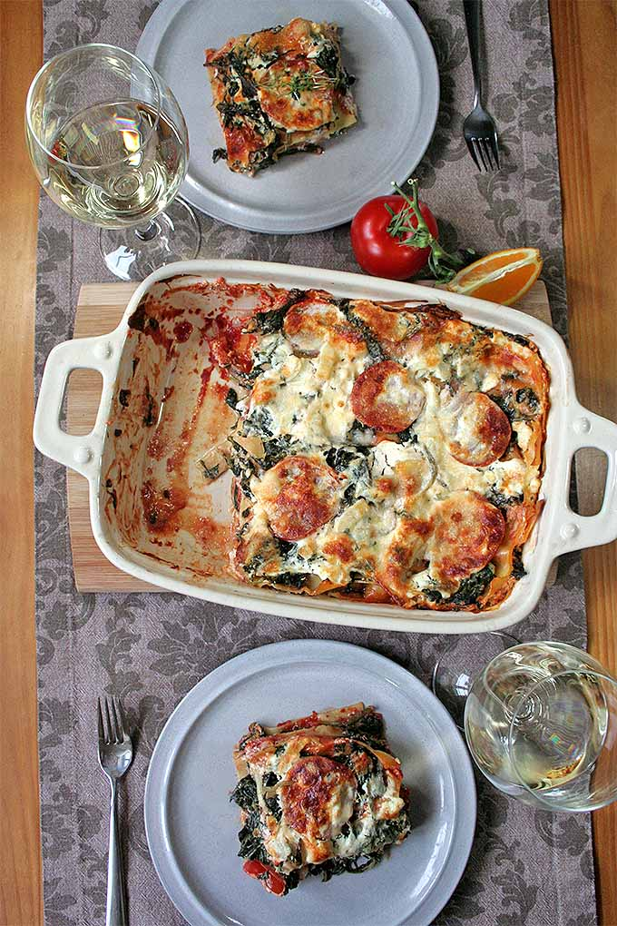 Our Fresh and Fruity Spinach Lasagna is a great choice for your next meat-free day. Get the recipe now or pin it for later: http://foodal.com/recipes/pasta/spinach-lasagna/