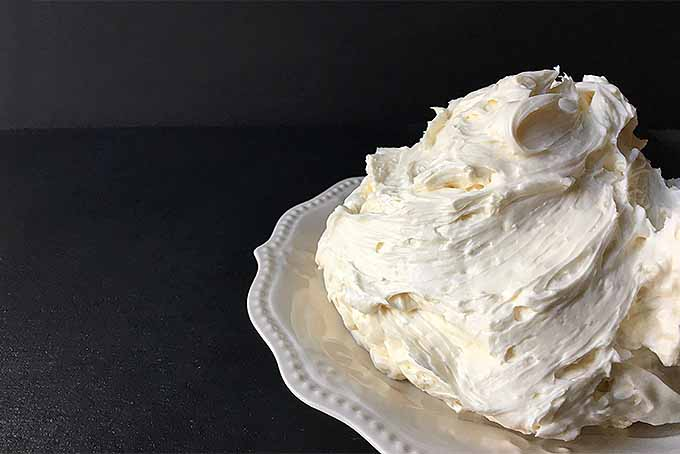 A plate of homemade Swiss Meringue buttercream | Foodal.com