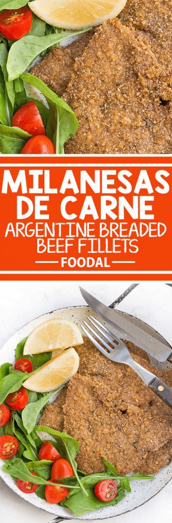 Milanesas de carne or breaded beef fillets are a simple staple dish in Argentina. Best served with a fresh salad and a squeeze of lemon juice, they're baked until golden brown, and deliciously crispy. Get the recipe now on Foodal.