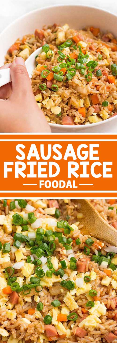 Easy Sausage Fried Rice with Garlic and Ginger
