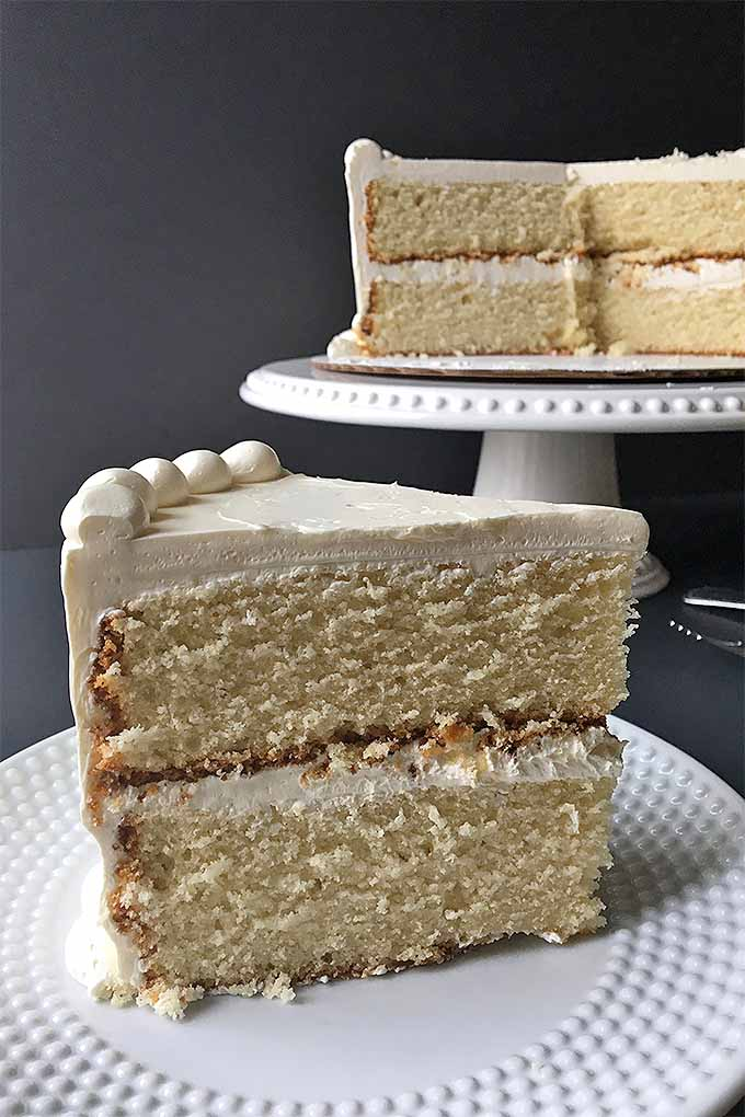 Learn how to bake a tasty vanilla butter cake that's better than any boxed mix: https://foodal.com/knowledge/baking/very-vanilla-cake/