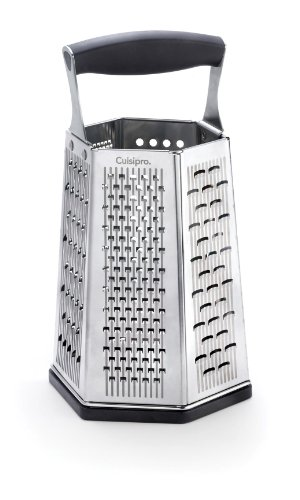Cuisipro SGT 4 SIDES BOX Tower GRATER with Bonus Ginger Grater CHEESE Fruit Veg