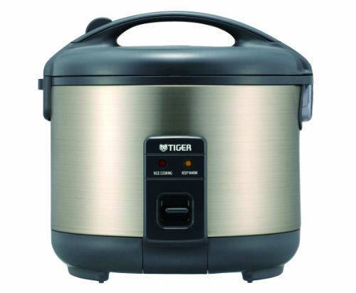 b8eec5b0d Tiger JNP-S10U Electric 5.5-Cup (Uncooked) Rice Cooker and Warmer with  Stainless Steel Finish