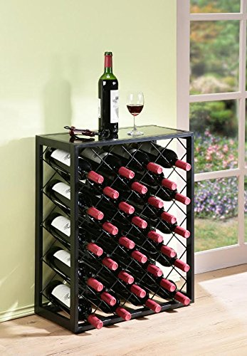 Mango Steam 32 Bottle Wine Rack With Gl Table Top Available On