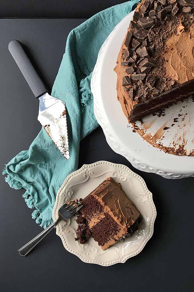 Learn how to make the best chocolate cake right at home: https://foodal.com/recipes/desserts/best-chocolate-cake/